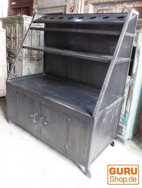 rustikales b cherregal massivholz kolonialstil indien. Black Bedroom Furniture Sets. Home Design Ideas