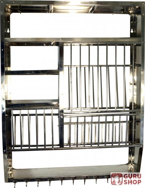 indisches edelstahl k chenregal wandregal minik che. Black Bedroom Furniture Sets. Home Design Ideas