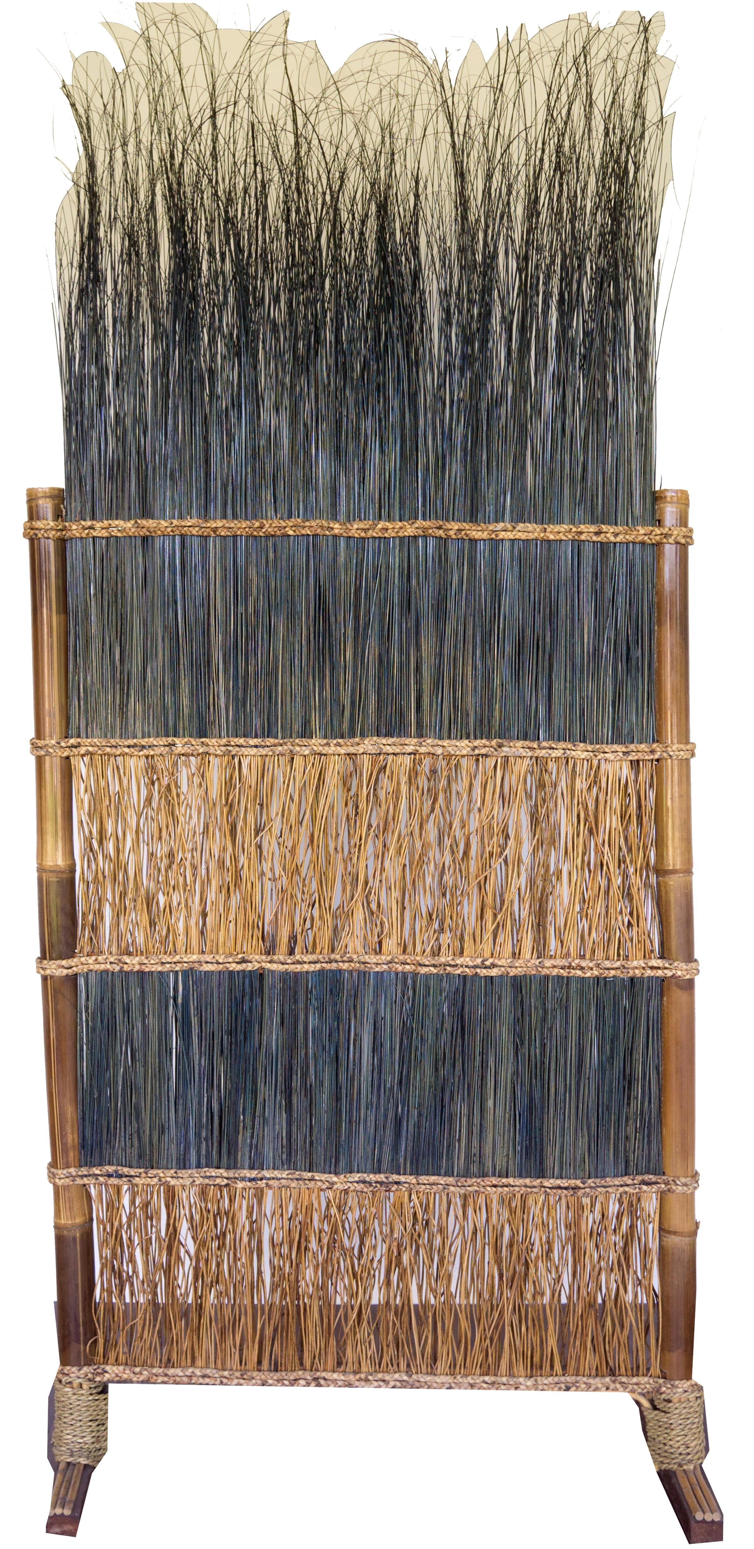 paravent, raumteiler, raumtrenner spanische wand aus natur-material